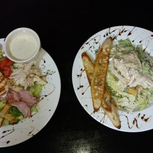 Chef Salad & Caeser Salad with Chicken