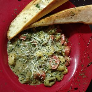Tri-Colored Cheese Tortellini with Pesto